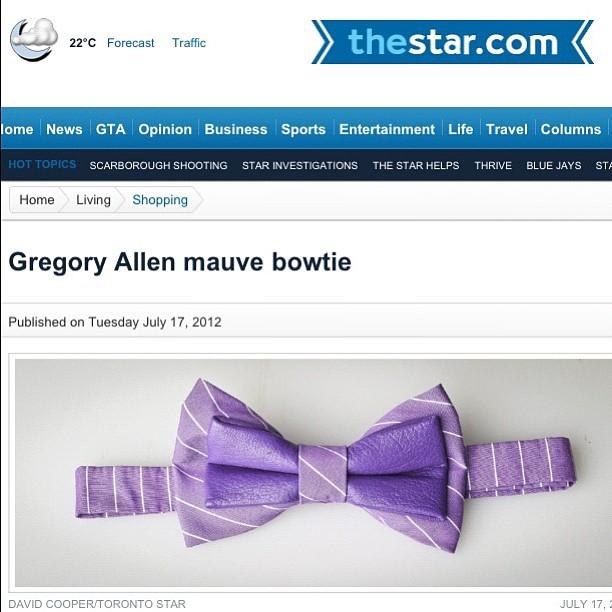GAC : Toronto Star #torontostar #gregoryallencompany #gac #bowtie # – via Instagram