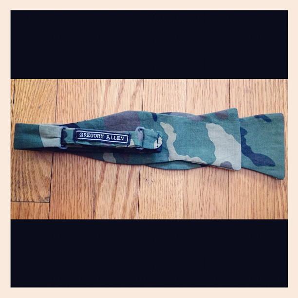 GAC Camouflage now tie comming soon.. #bowtie  #gac #gregoryallencompany #camouflage # – via Instagram