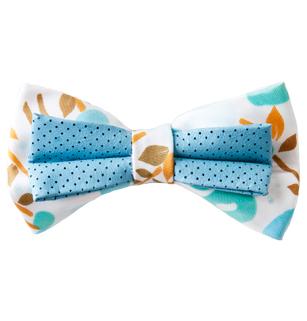 Men's Aqua Green/Tan/White Bow Tie
