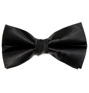 Men's 'James' Black Satin Bow Tie