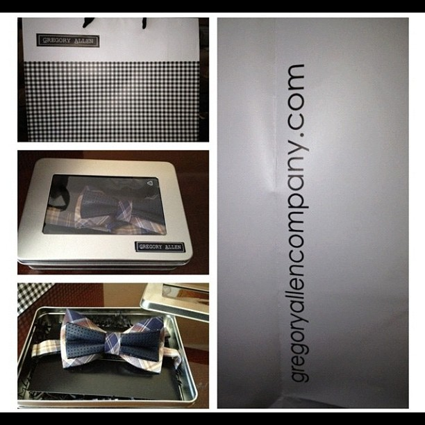 GAC : another happy customer :) www.gregoryallencompany.com #gac #gregoryallencompany #bowties #madeincanada - via Instagram