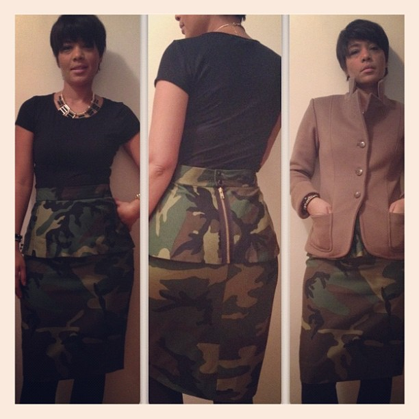 935e8411a7d4c GAC: Custom Jacket / Camouflage Peplum skirt … 6 in the morning ...
