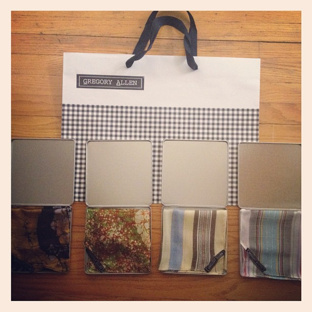 GAC : custom pocket squares #gregoryallencompany #gac #menswear #pocketsquares - via Instagram