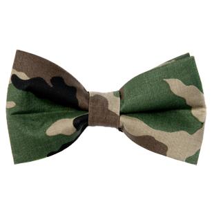 Men's Camouflage Bow Tie