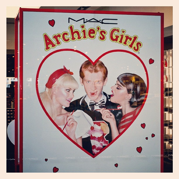 "Blog: GAC * MAC Cosmetics ""Archie's girls"" spring 2013 campaign . Read more here - http://gregoryallencompany.com/blog #gregoryallencompany #gac #spring2013 #bowtie #menswear #archiesgirls - via Instagram"