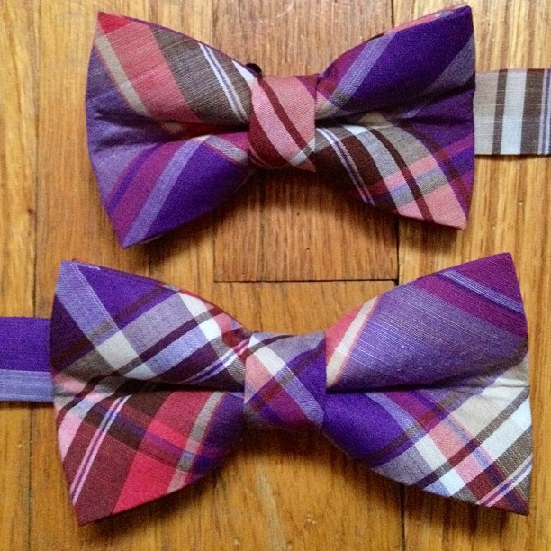GAC: Bespoke father / son bow ties  #gac #gregoryallencompany #bowtie #bespoke #men #kids #father #son - via Instagram