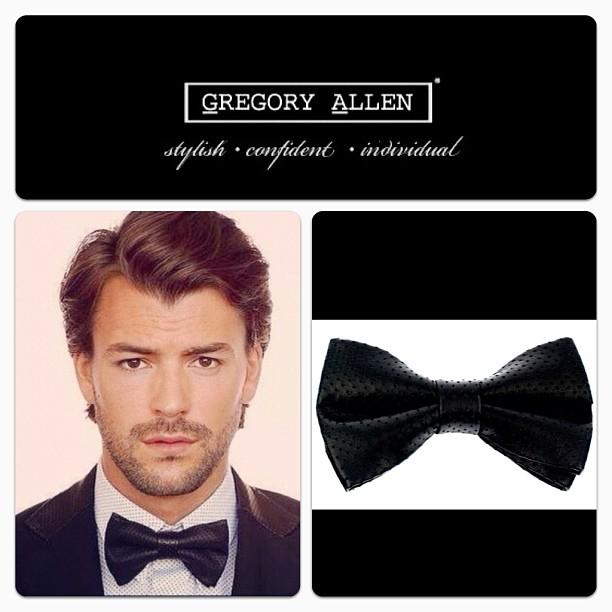 GAC : Classic Black perforated leather bow tie.#gac #gregoryallencompany #bowtie #black #leather – via Instagram