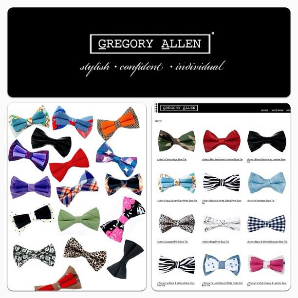 GAC : Bow tie heaven - www.gregoryallencompany.com #gac #gregoryallencompany #bowtie - via Instagram