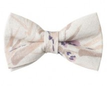 2013 Spring Women's (Eliabeth) Bow Tie - Linen with Floral Print