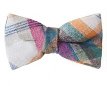 2013 Spring Women's Pink, Green, Yellow Bow Tie