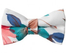Spring Floral Bow Ties White_Shop page