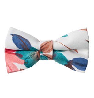 Girl's Floral Bow Tie