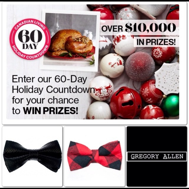 Enter the Canadian Living Magazine 60 day Holiday Countdown for your chance to win #GACbowties – black leather, lumberjack www.canadianliving.com #bowties #gac #canadianlivingmag - via Instagram