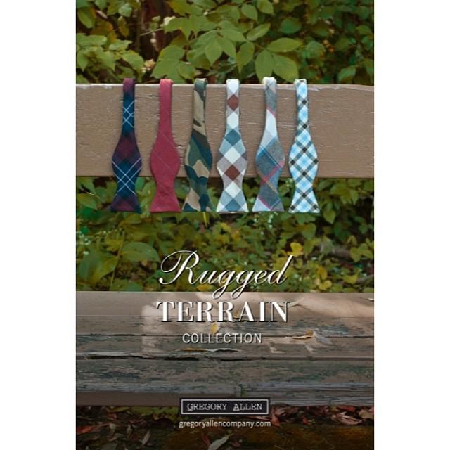 GAC : New self-tied bow ties . Rugged Terrain Collection made in Canada www.gregoryallencompany.con/blog #RuggedTerrain #GACself-tiedbowties – via Instagram