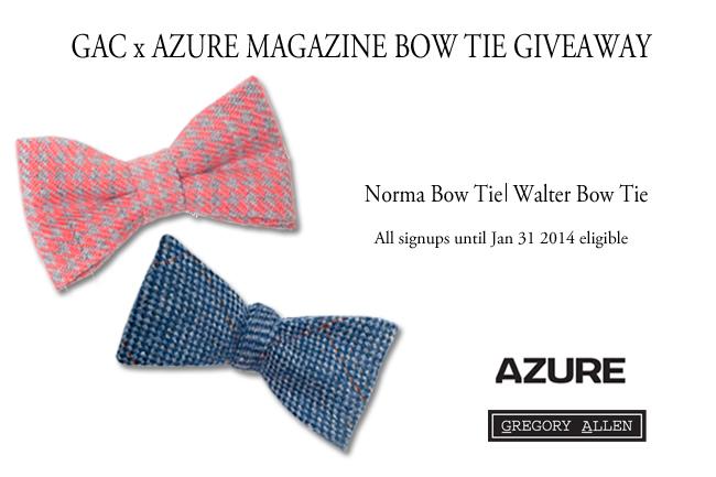 Blog - GAC x Azure Bow Tie Giveaway (rev)
