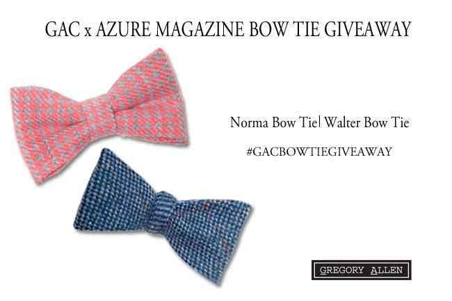 Blog - GAC x Azure Bow Tie Giveaway