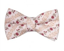 women's pink floral bow tie - shop size (1)