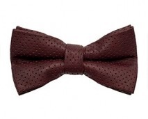 GAC men's burgundy perforated leather bow tie _ shop page