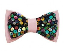 GAC women's pink sequins bow tie _ shop page