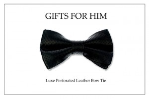 Holiday Bow Tie_Blk Per.Leather bow tie copy