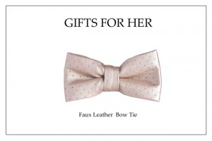 Holiday Bow Tie_Gold Faux Leather Bow Tie copy