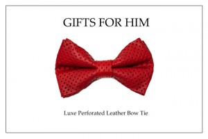 Holiday Bow Tie_Red Perf. Leather bow tie copy