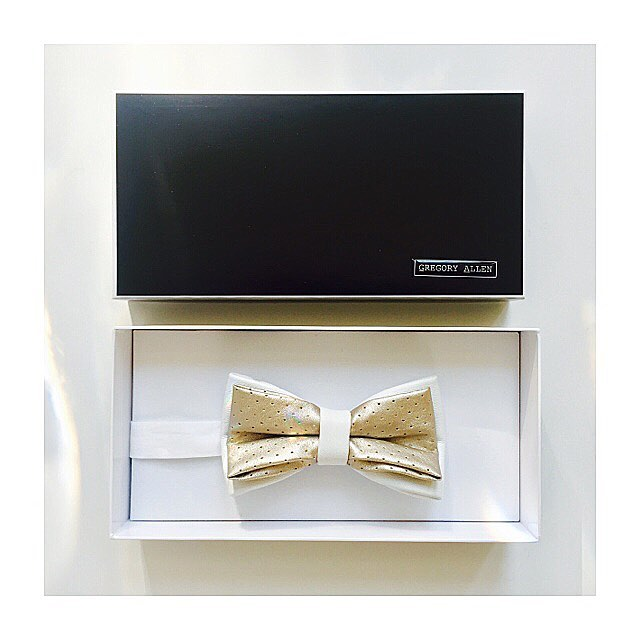 Bespoke: white leather & silver/gold perforated graduation bow tie.Gregoryallencompany.com/bespoke  #bowtie #gacbowtie  #toronto #whiteleather #graduation #silver&gold #graduation #gift #mensstyle #madeincanada #mensaccessories #mensstyle #womenstyle #motivation #coolbowties  #collection #fashionbloggers  #necktie #suitandtie #mensfashionbloggers #fashionblog #gentlemen #gq #menswear #hipsters  #concept #ootd #gentlemen - via Instagram