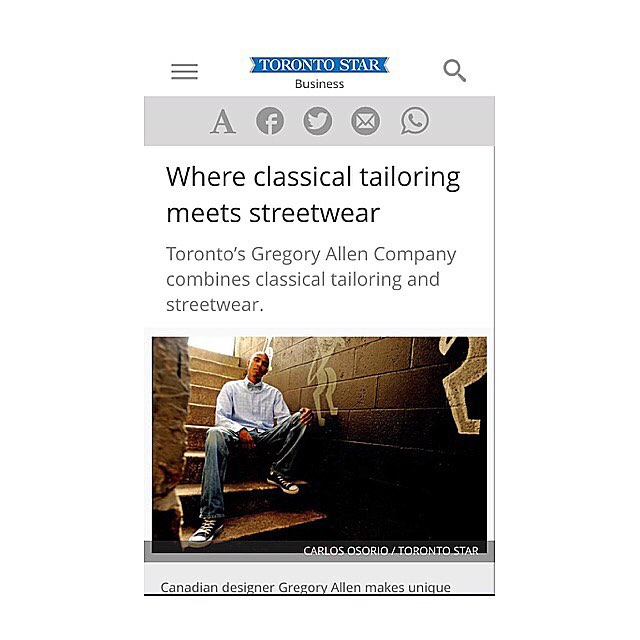 #TBTThe Toronto star – Where classical tailoring meets strew wear http://www.thestar.com/business/small_business/2010/07/26/where_classical_tailoring_meets_streetwear.html Toronto's Gregory Allen Company combines classical tailoring and streetwear.  #torontostar  #bowtie  #toronto  #oodt #mensaccessories #womenaccessories #madeincanada #mensstyle  #motivation #coolbowties  #collection #fashionbloggers  #necktie #suitandtie #mensfashionbloggers #fashionblog #gentlemen #gq #menswear #hipsters #womenswear #womenaccessories #womenfashionbloggers – via Instagram